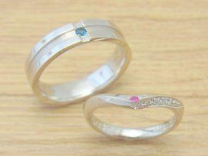 ★Sさま(鶴岡市)素材:K18PG、プラチナ900仕上:ミラーストーン:H&Cダイヤモンド、ダイヤモンド×2pcs