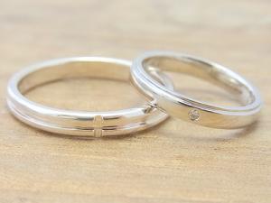 ★H夫妻さま(鶴岡市)素材:SV925/プラチナ900仕上:ミラーストーン:新婦ダイヤモンド