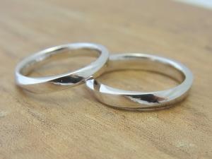 ★Y夫妻さま(鶴岡市)素材:プラチナ900仕上:ミラーストーン:新婦ダイヤモンド