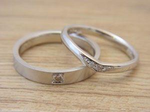 ★S夫妻さま(鶴岡市)素材:プラチナ900仕上:ミラーストーン:ダイヤモンド