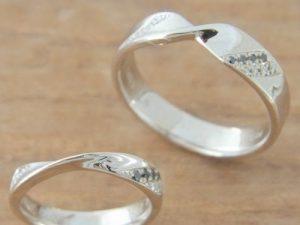 ★K夫妻さま(鶴岡市)素材:K18YG仕上:ミラーストーン:新婦ダイヤモンド